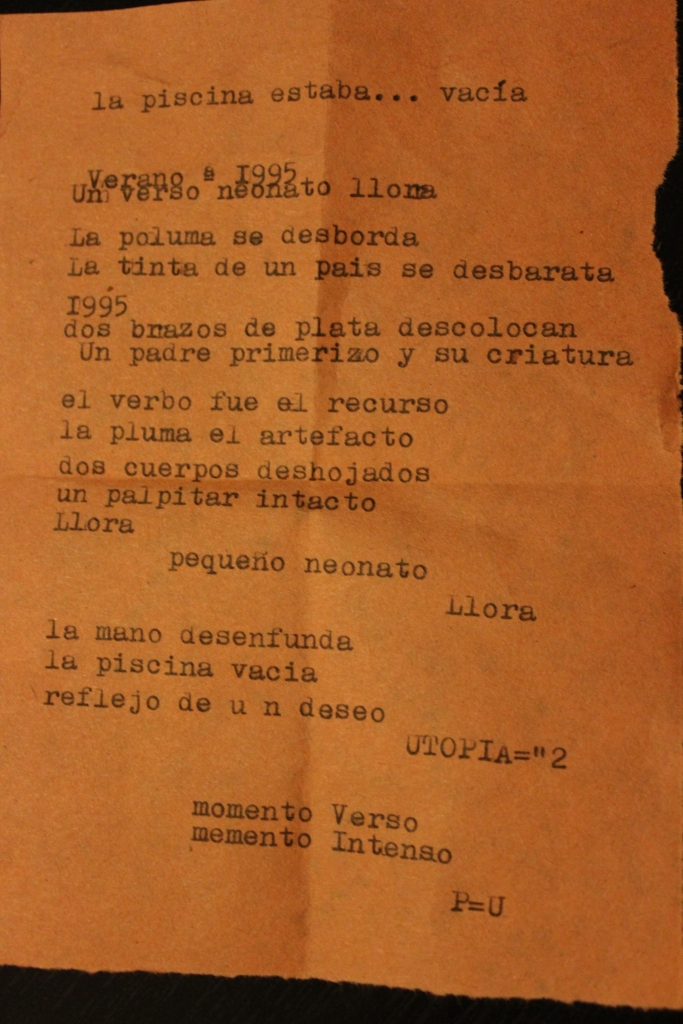 Mi poema. Gracias Pablo.