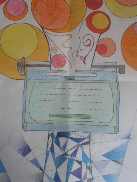 Mi Olivetti dibujada por Andrea Echevarria.