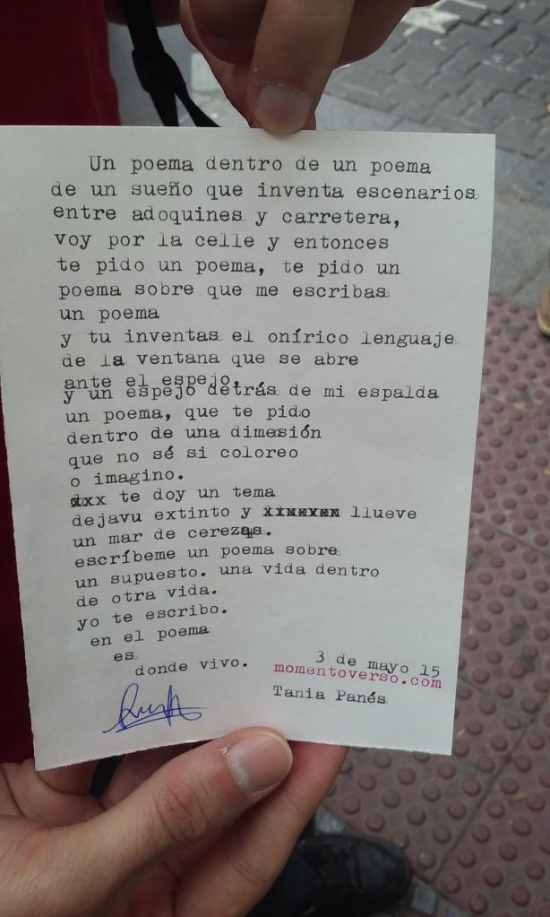 un poema dentro de un poema
