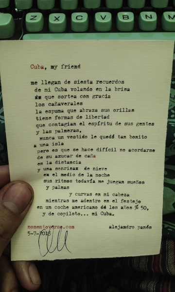 Cuba, my friend